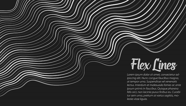 Warped lines background template Free Vector