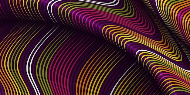 Warped lines background Free Vector
