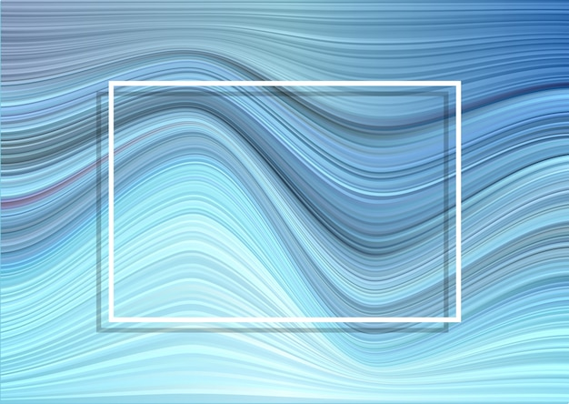 Warped stripes background with white frame Free Vector