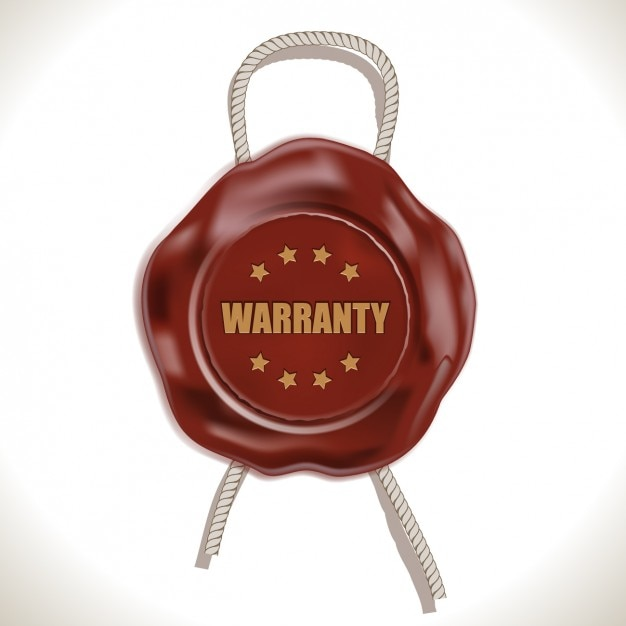 Warranty wax seal Free Vector