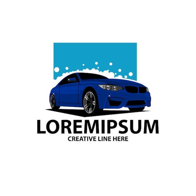 Wash car logo Premium Vector