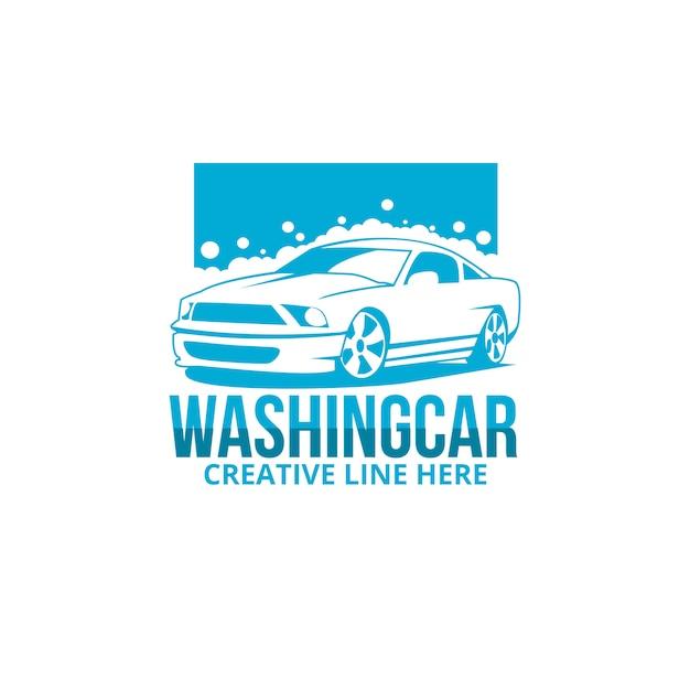 Wash car Premium Vector