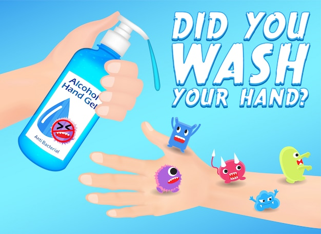 Wash your hand for prevent infection Premium Vector