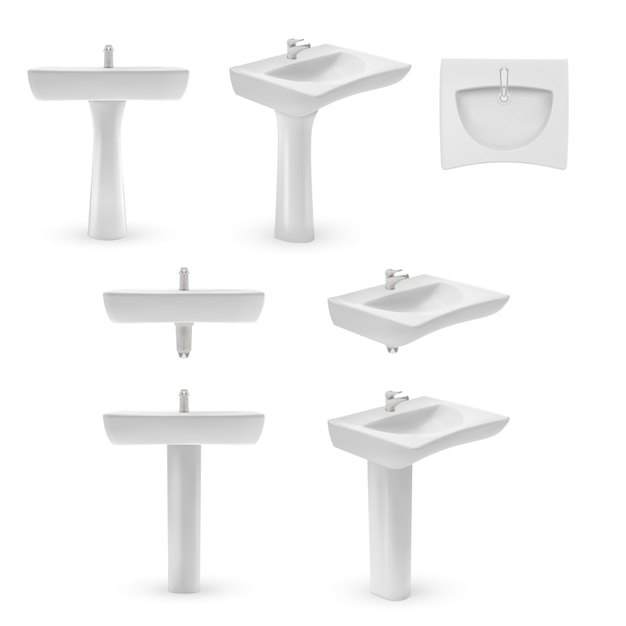 Washbasin template illustration Premium Vector