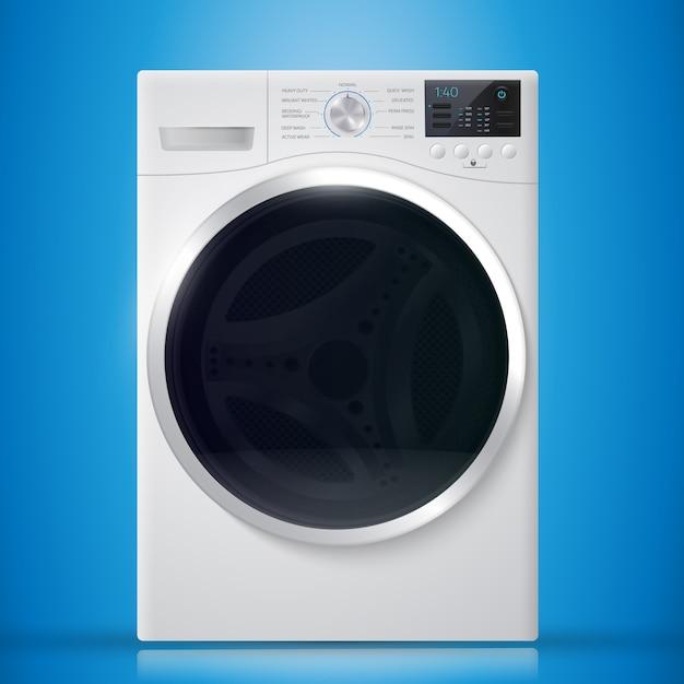 Washer on blue background. Premium Vector