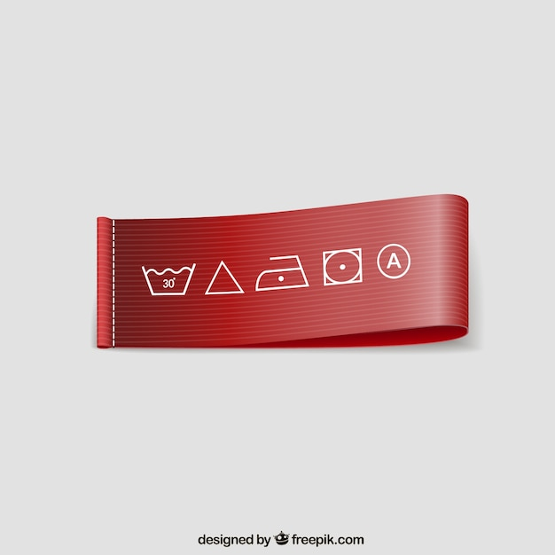Washing instructions label Vector | Free Download