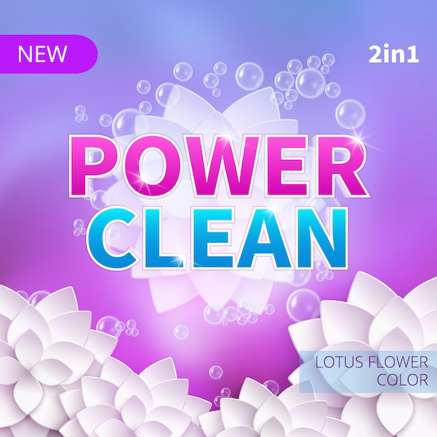 Washing powder and detergent vector packing product design. Premium Vector