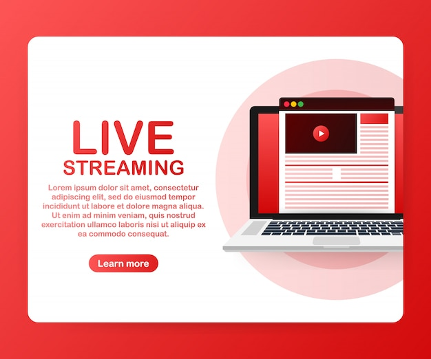 Watch video online template Premium Vector