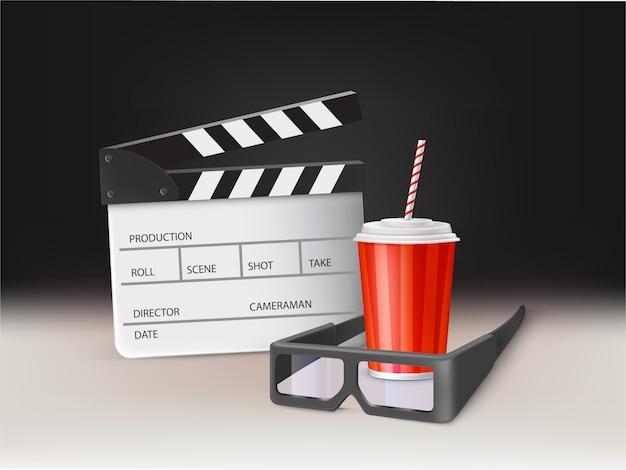 Watching movie in cinema r Free Vector