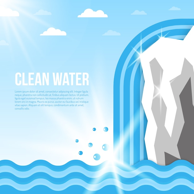 Water background illustration Free Vector