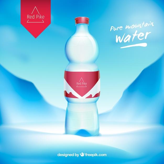 Water Bottle Vector: Water Bottle Advertisement Vector