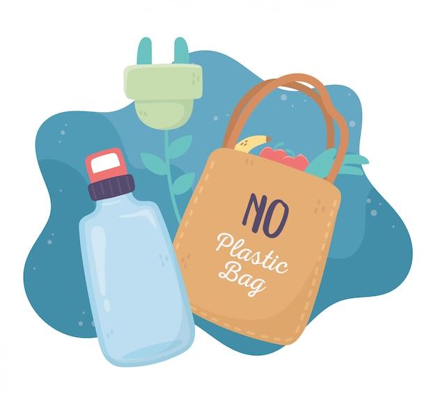 Хозяйственная сумка для бутылки с водой Premium векторы