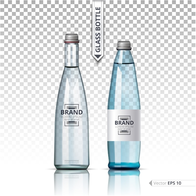 Water bottle template Vector | Premium Download