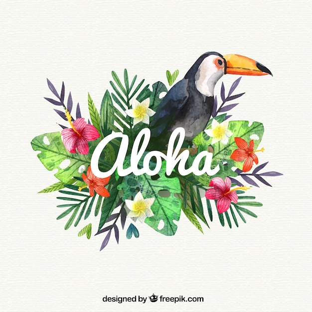 water color pelican aloha background vector free download tropical flower clipart black and white tropical flower clipart no background