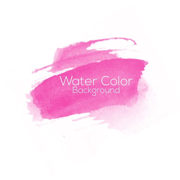 Water color pink background Premium Vector