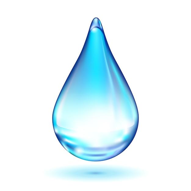 分離された水滴 無料ベクター