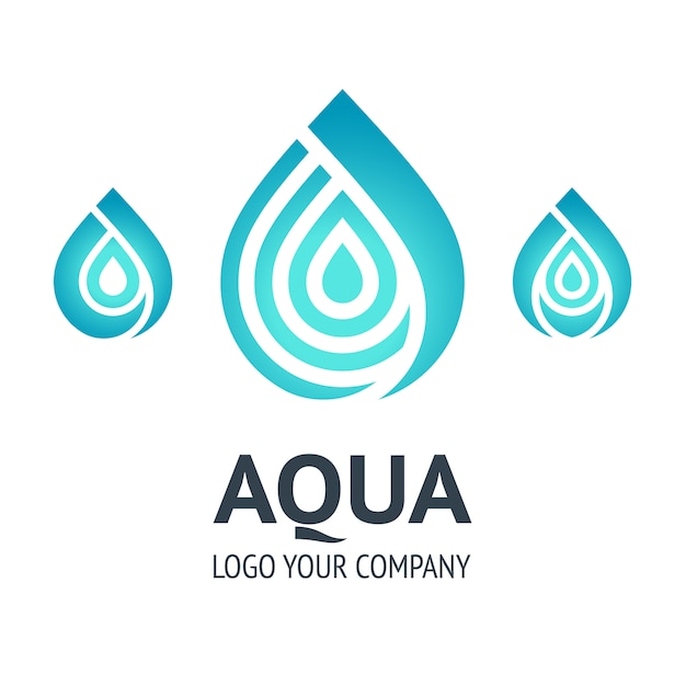 Water drop logo template Premium Vector