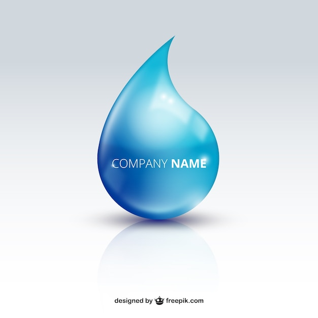 Water drop logo Free Vector