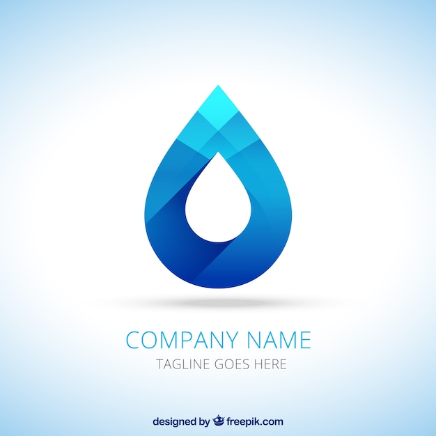 Water drop logo Free Vector