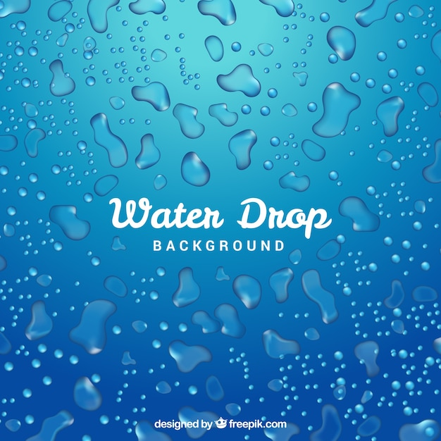 Water drops background in realistic style Free Vector