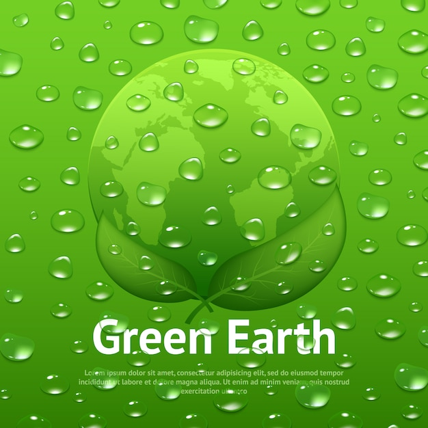 Water drops eco poster Free Vector