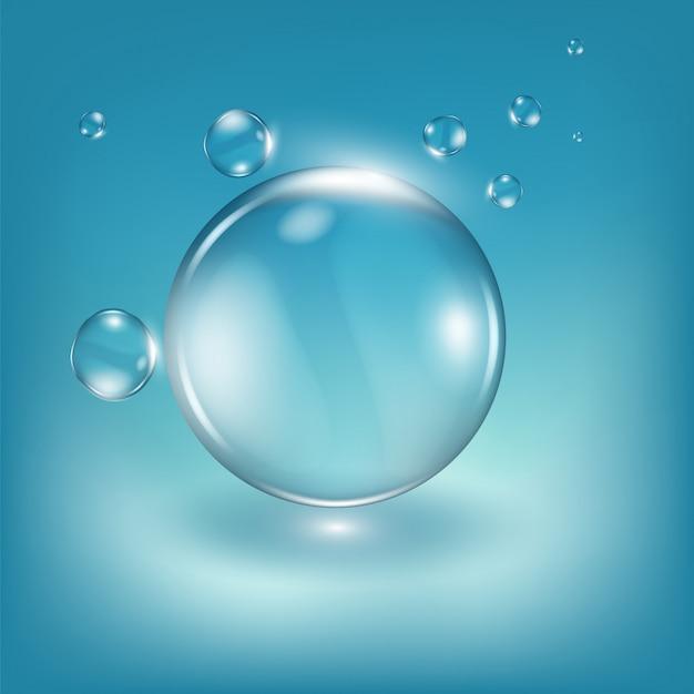 Water drops realistic illustration. graphic concept for your design Premium Vector