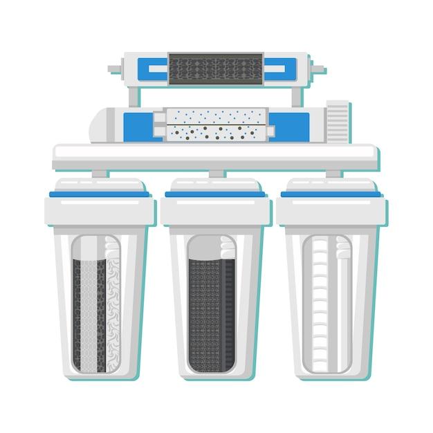 Water filter in cut color vector illustration Premium Vector