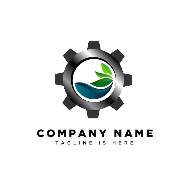 Water fresh industry logo Premium Vector