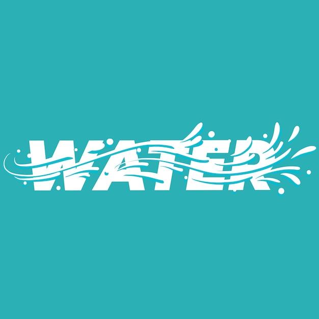 Water lettering word. Premium Vector