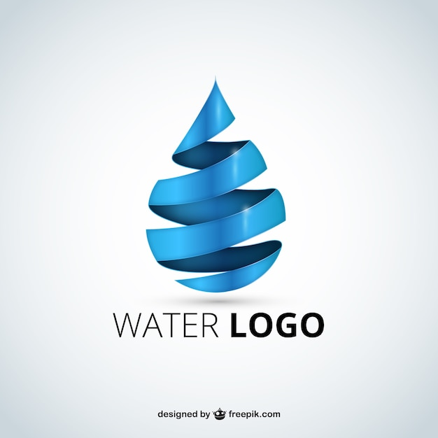 Water logo Premium Vector
