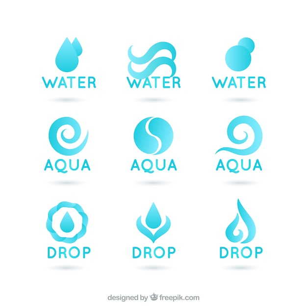 water logos vector free download