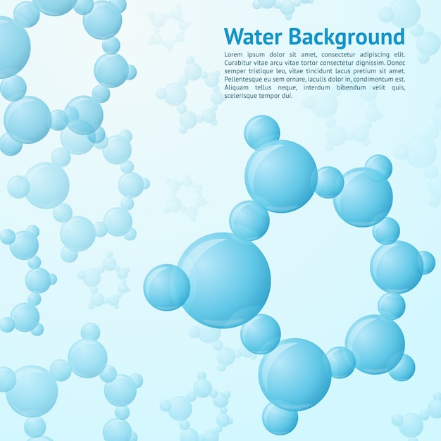 Water molecules background template Free Vector