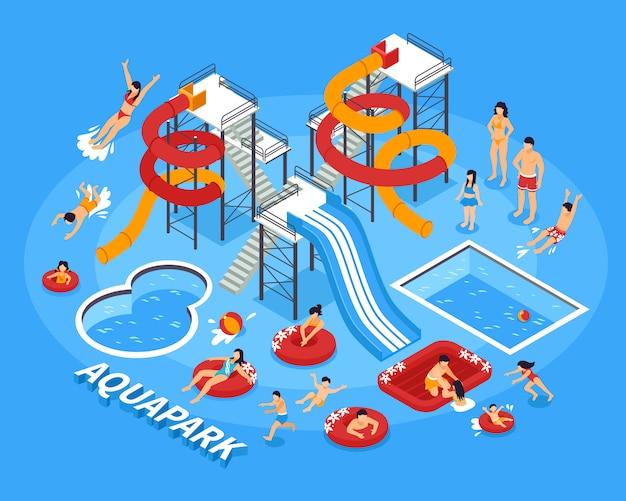 Water park illustration Free Vector
