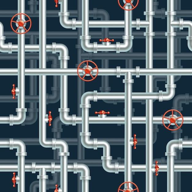 Water pipeline seamless pattern Premium Vector