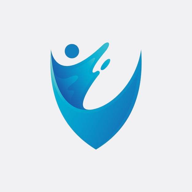 Water protection logo design Premium Vector