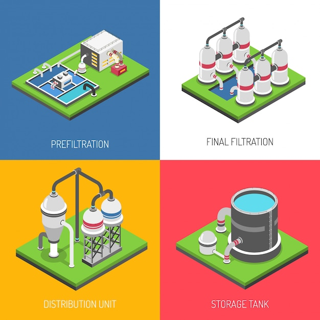 Water purification  design concept Free Vector