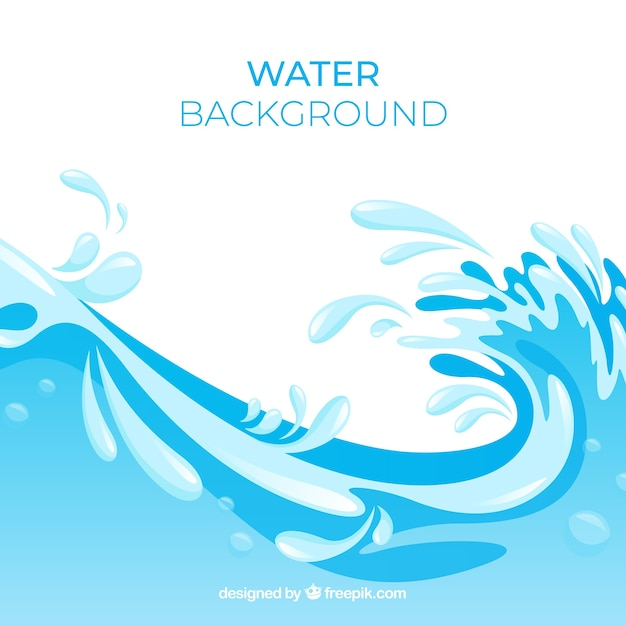 Water splash background in flat style Free Vector