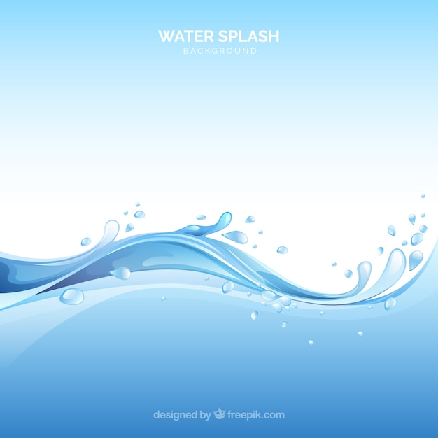 Water splash background in realistic style vector free download - Water background images ...