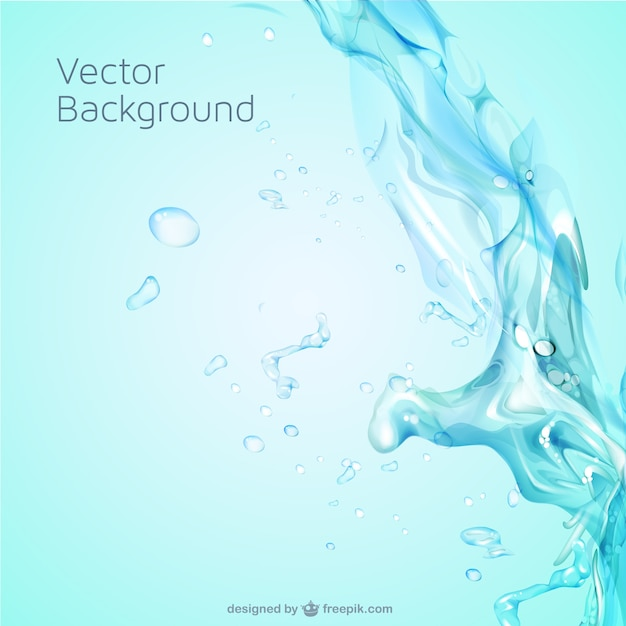 Water splash background Free Vector