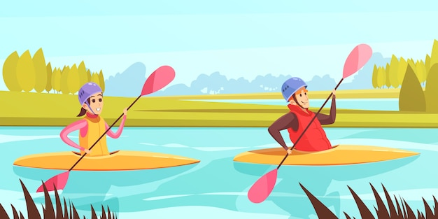 Water sports Free Vector