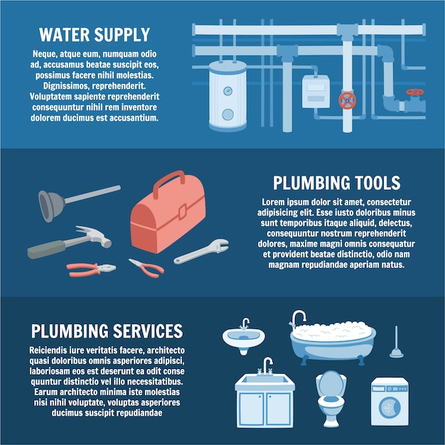 Water supply Premium Vector