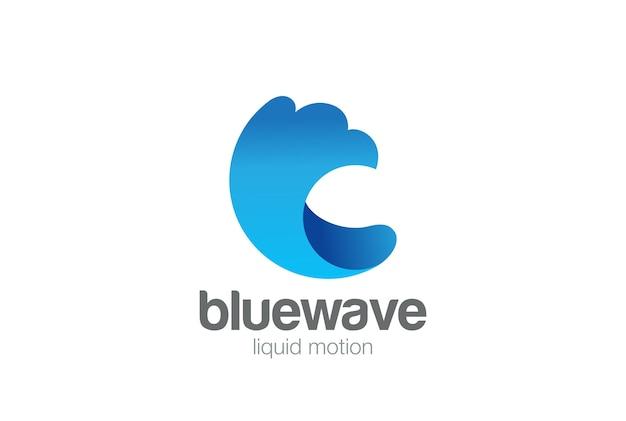 Water wave splash logo    . Free Vector