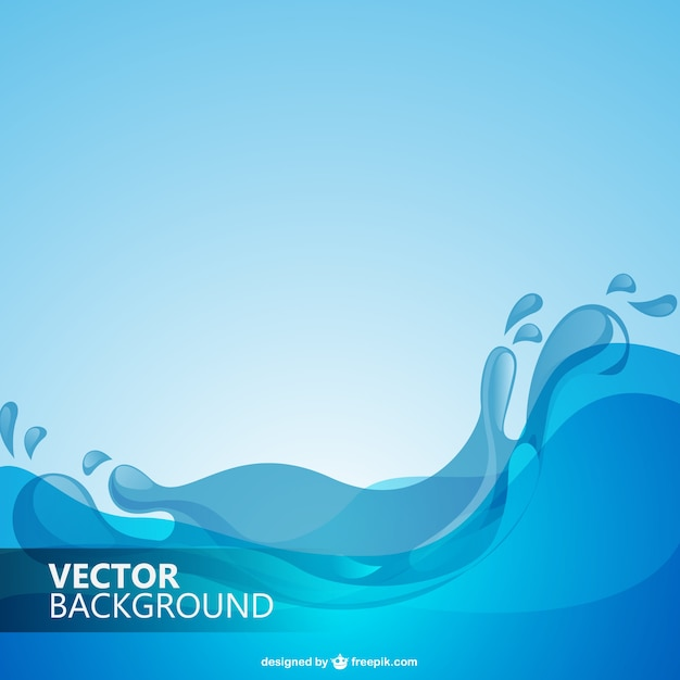 Water waves background Free Vector