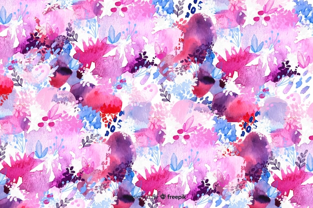 Watercolor abstract floral background Free Vector
