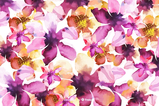 Watercolor abstract gradient floral background Free Vector