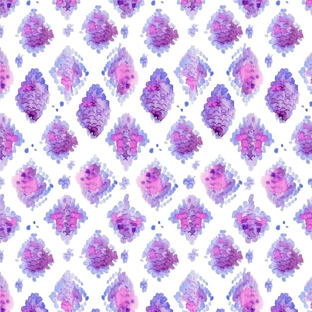 수채화 동물 인쇄 패턴 무료 벡터