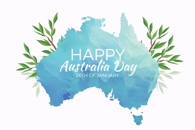 Watercolor australia day Free Vector