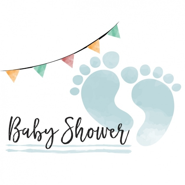 Watercolor Baby Shower Card For Boy Vector Free Download