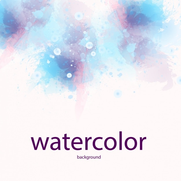 watercolor background design free vector