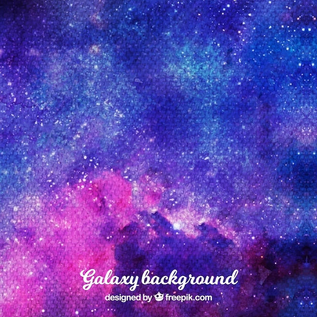 Watercolor background in blue and purple tones
